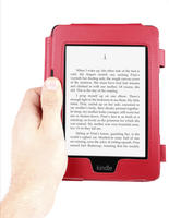 View Item Red Leather Book Style Case For Amazon Kindle Paperwhite With Custom Fit Design