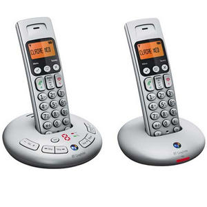 BT GRAPHITE 3500 TWIN CORDLESS PHONE ANSWER MACHINE
