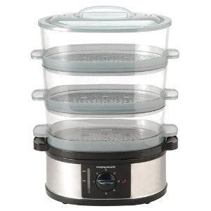 MORPHY RICHARDS 48755 STEAMER 3 TIER - STAINLESS STEEL