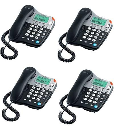 4 x BINATONE SPIRIT 410 CORDED HANDSFREE PHONE - FOUR