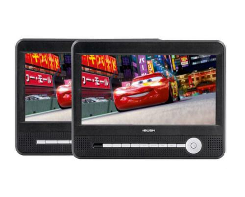 BUSH 9 INCH TWIN DUAL SCREEN PORTABLE IN CAR DVD PLAYER