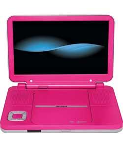 bush bdvd8310 10 inch portable dvd player hot pink ebay. Black Bedroom Furniture Sets. Home Design Ideas