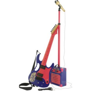 victorious electric guitar amp microphone with stand combo set rrp ebay. Black Bedroom Furniture Sets. Home Design Ideas