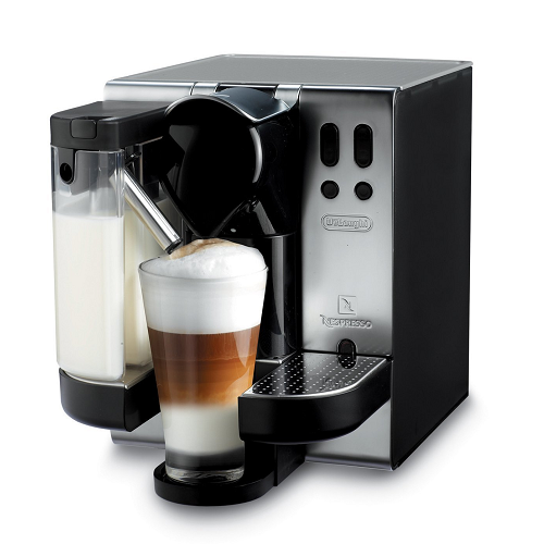 delonghi en680 satin chrome nespresso lattissima coffee maker machine ebay. Black Bedroom Furniture Sets. Home Design Ideas