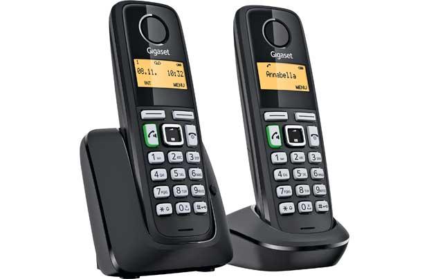 siemens gigaset a220 duo twin digital cordless phone answer machine. Black Bedroom Furniture Sets. Home Design Ideas