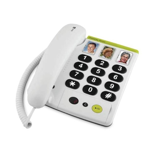 big button corded phone with answering machine