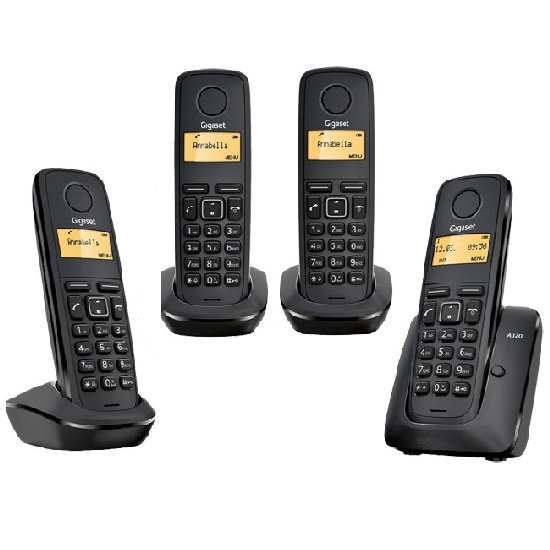 siemens gigaset a120 quad digital cordless phone ebay. Black Bedroom Furniture Sets. Home Design Ideas