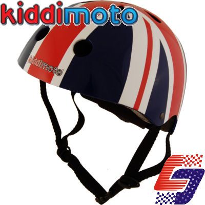 Kiddimoto Helmet Union Jack Small Childs Kids Bike Cycle Micro Scooter Skate Enlarged Preview