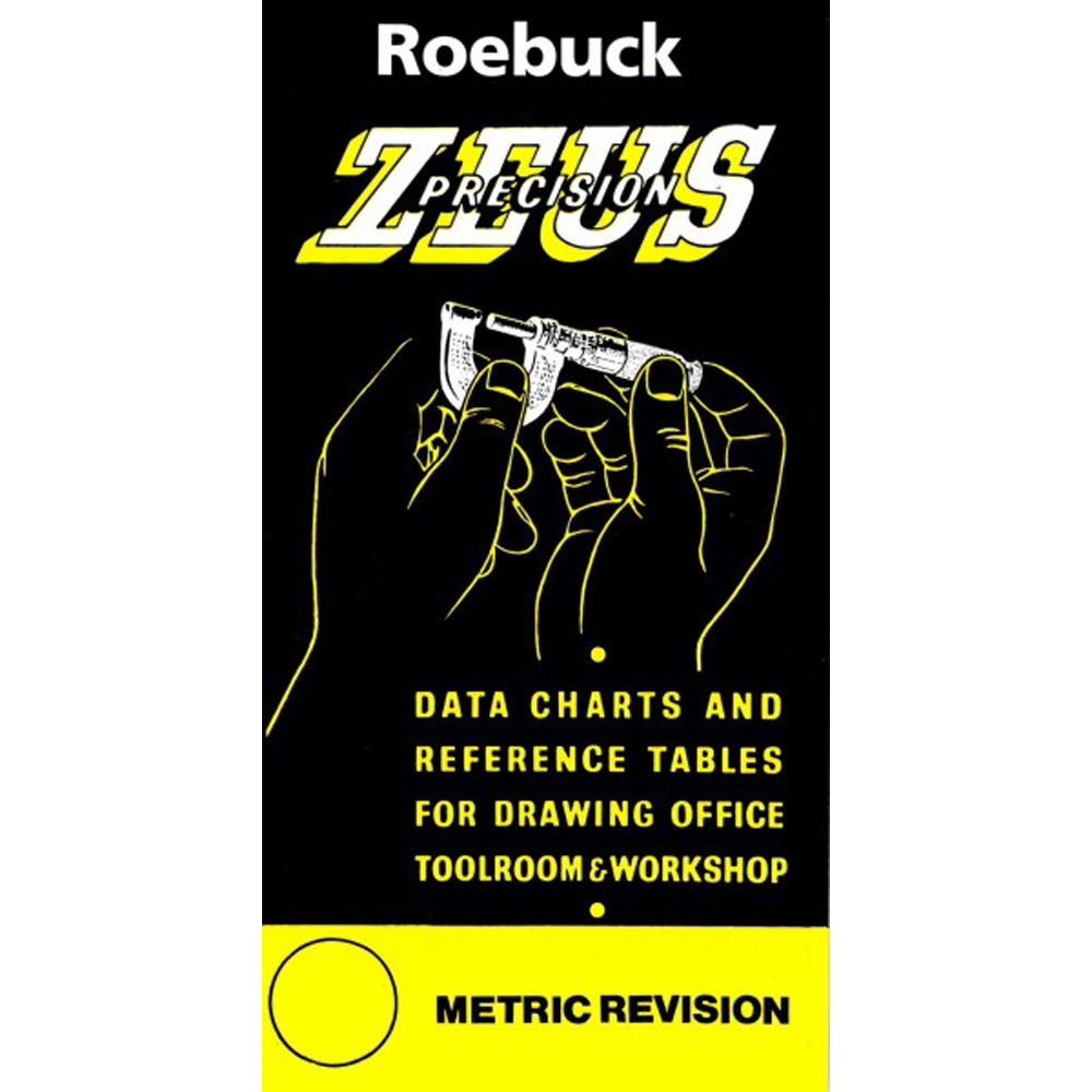Zeus Precision Engineers Metric Data Book Charts Reference Tables Drill Tap Size Enlarged Preview