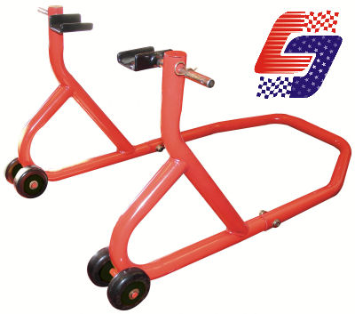 BikeTek Universal Motorbike Motorcycle Rear Wheel Lift Paddock Race Track Stand Enlarged Preview