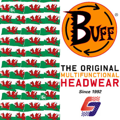 Original Buff® Welsh Flag 2010 Balaclava Bandana Face Mask Neck Tube Scarf Snood Enlarged Preview