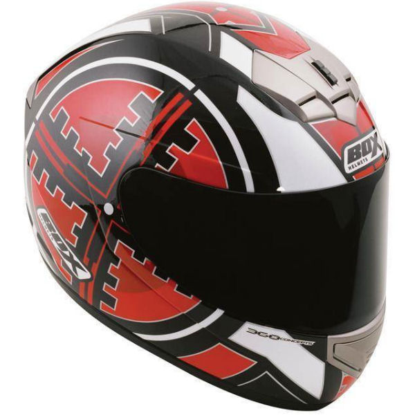Box BX-1 Scope Motorbike Motorcycle Scooter Road Track Full Face Crash Helmet Enlarged Preview