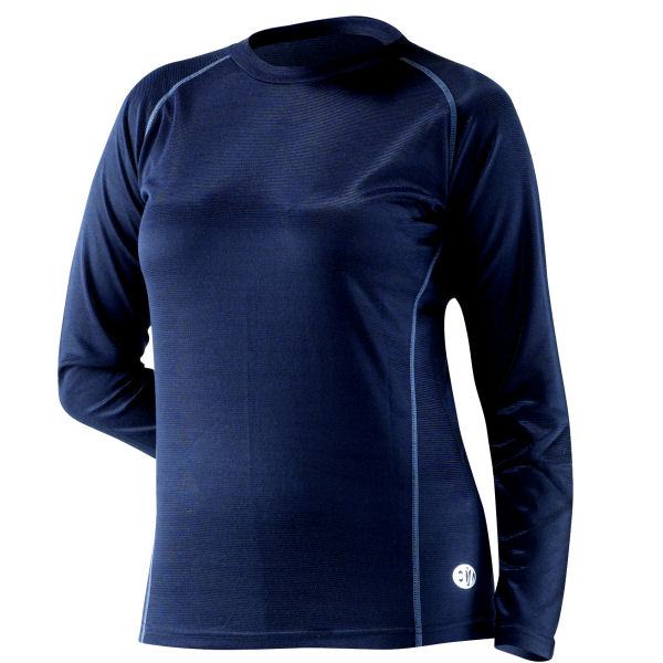 EDZ Cool Climate Merino Wool Base Layer Ladies Crew Neck Shirt Top Motorbike Ski Enlarged Preview