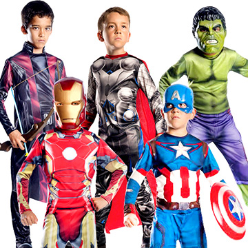 Kids Superhero & Villain Costumes