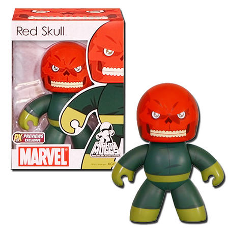 View Item MIGHTY MUGGS RED SKULL VINYL FIGURE 2008 PREVIEWS EXCLUSIVE - HASBRO