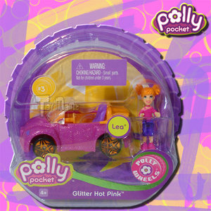 POLLY POCKET - POLLY WHEELS #3 GLITTER HOT PINK-MATTEL Preview