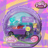 View Item POLLY POCKET - POLLY WHEELS #5 PURPLE VERTIBLE - MATTEL