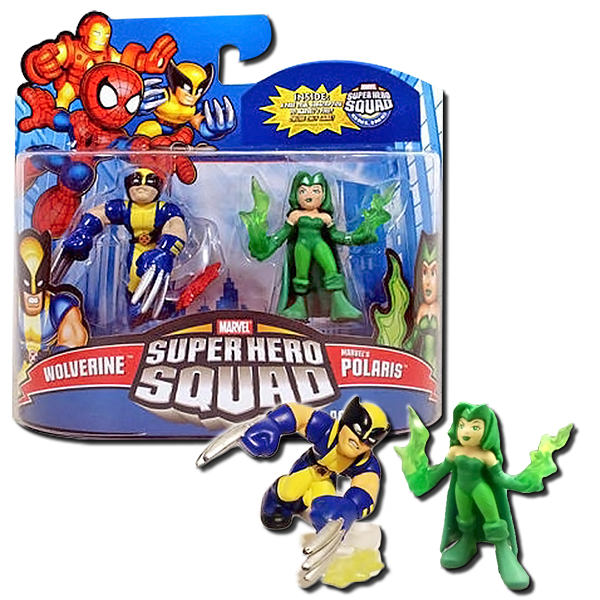 Marvel Super Hero Squad Wolverine Polaris Figures 2 Pack Hasbro  eBay