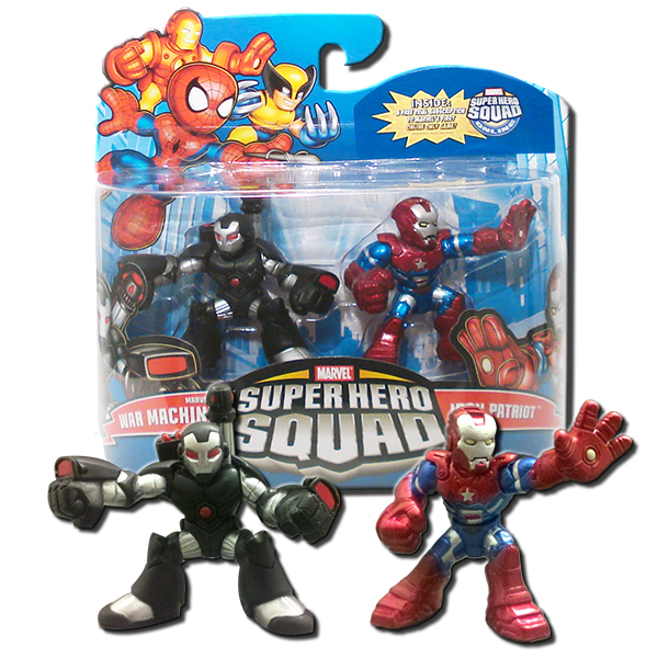Marvel Super Hero Squad War Machine Iron Patriot Figures 2 Pack Hasbro