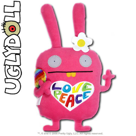 View Item UGLYDOLL CLASSIC WIPPY 12-INCH PLUSH - LEARNING EXPRESS PINK 2012 LIMITED EDITION