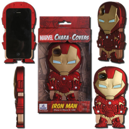 View Item MARVEL CHARA-COVER SERIES 1 IRON MAN IPHONE 4/4S CELL PHONE CASE