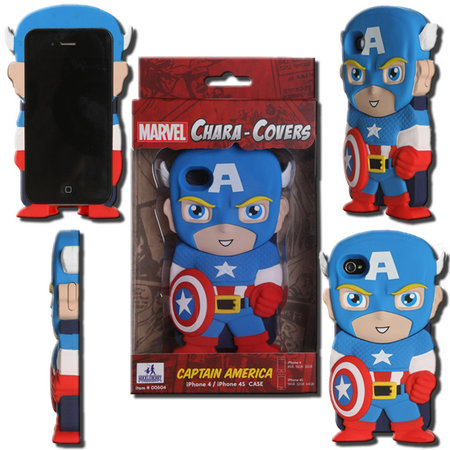 View Item MARVEL CHARA-COVER SERIES 1 CAPTAIN AMERICA IPHONE 4/4S CELL