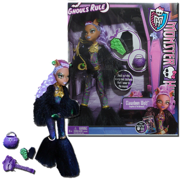 monster high ghouls rule clawdeen wolf 11inch doll with