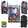 View Item IRON MAN 3 CHARA-BRICKS IRON PATRIOT GLOWING EYES VARIANT 7-INCH VINYL-2013 SDCC