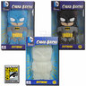 View Item DC COMICS CHARA-BRICKS BATMAN -SET OF 3- BLACK-BLUE-GID 7-INCH VINYL -2013 SDCC