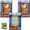 View Item IRON MAN 3 CHARA-BRICKS IRON MAN -SET OF 3- GLOWING EYES-GID 7-INCH VINYL - 2013 SDCC