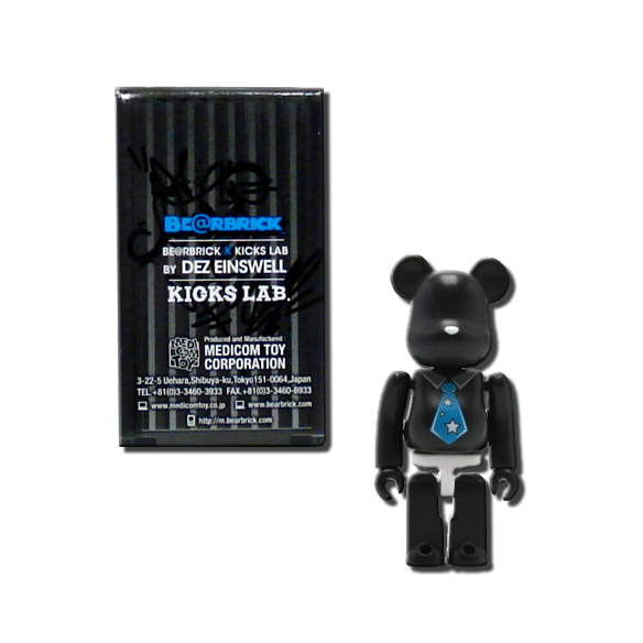 be rbrick 100 mini vinyl figure designed by dez einswell