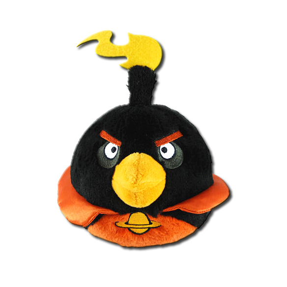 Angry Birds Toys With Sound : Angry birds space black bird inch plush toy with sound