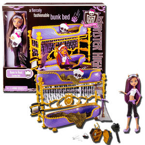MONSTER HIGH FURNITURE CLAWDEEN WOLF   ROOM TO HOWL BUNK BED PLAY SET    MATTEL Preview