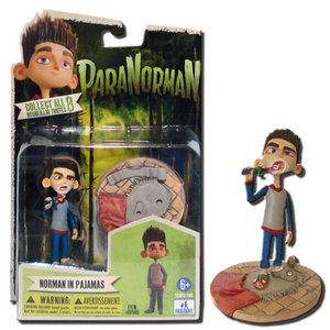 PARANORMAN NORMAN BABCOCK WITH TOOTHBRUSH 4-INCH ACTION FIGURE WITH BASE Preview
