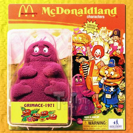 View Item HUCKLEBERRY TOYS - MCDONALDS MCDONALDLAND 2007 SDCC EXCLUSIVE 1971 GRIMACE