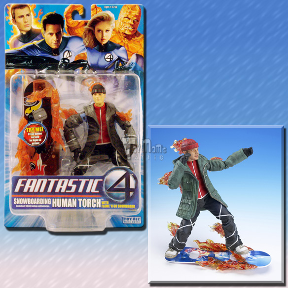fantastic four movie series 3 snowboarding human torch