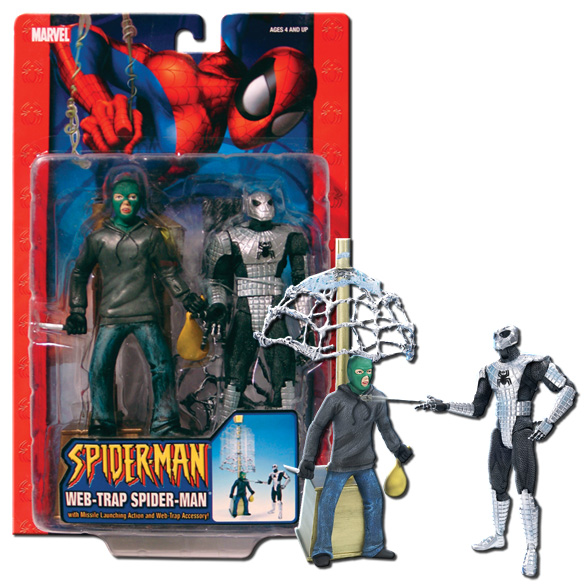 The classic spiderman toys but