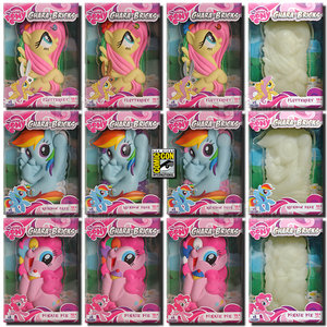 MY LITTLE PONY CHARA-BRICKS -ALL 12-FLUTTERSHY-PINKIE PIE-RAINBOW DASH-2013 SDCC Preview