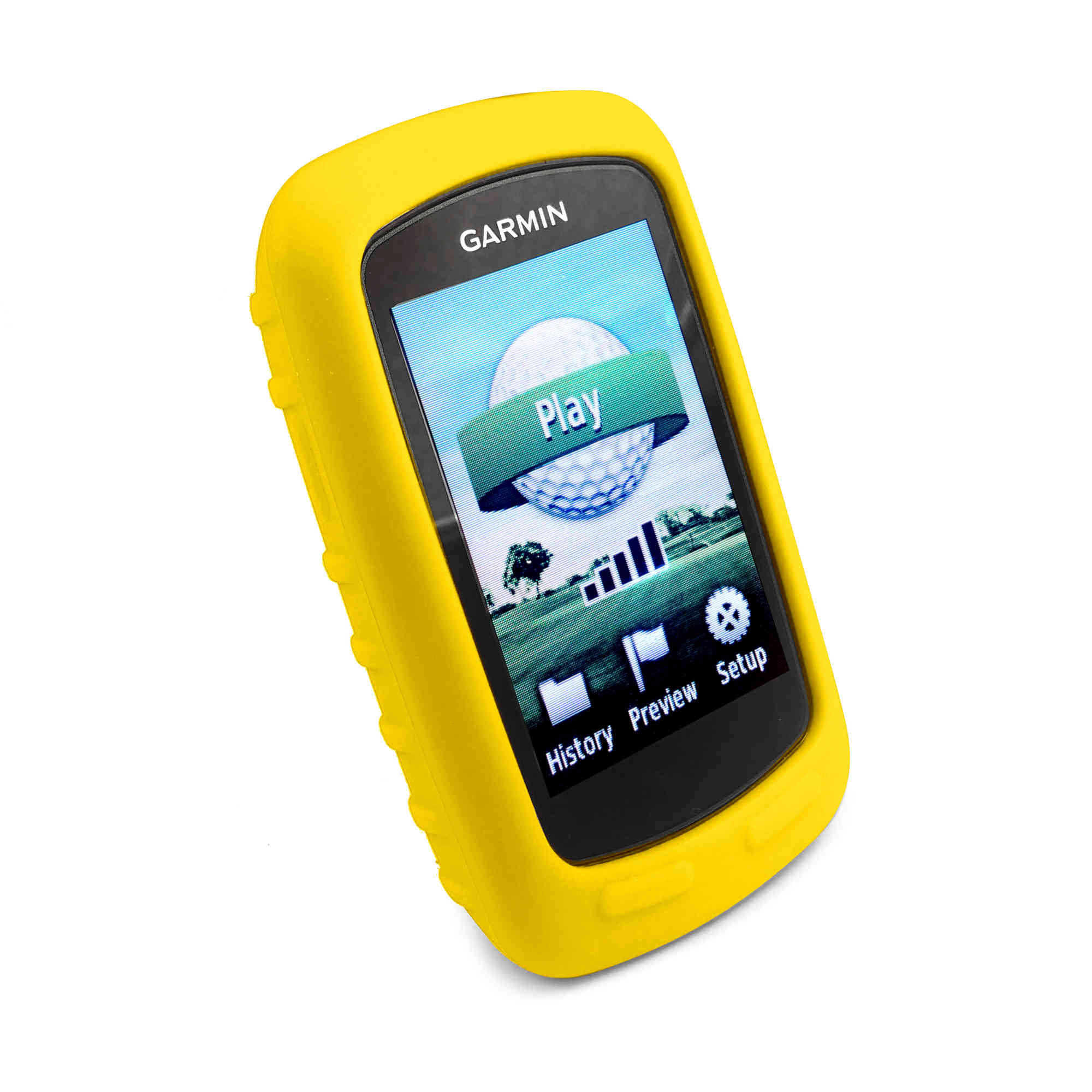 tuff luv silicone skin case screen cover for garmin approach g6 g7 yellow ebay. Black Bedroom Furniture Sets. Home Design Ideas