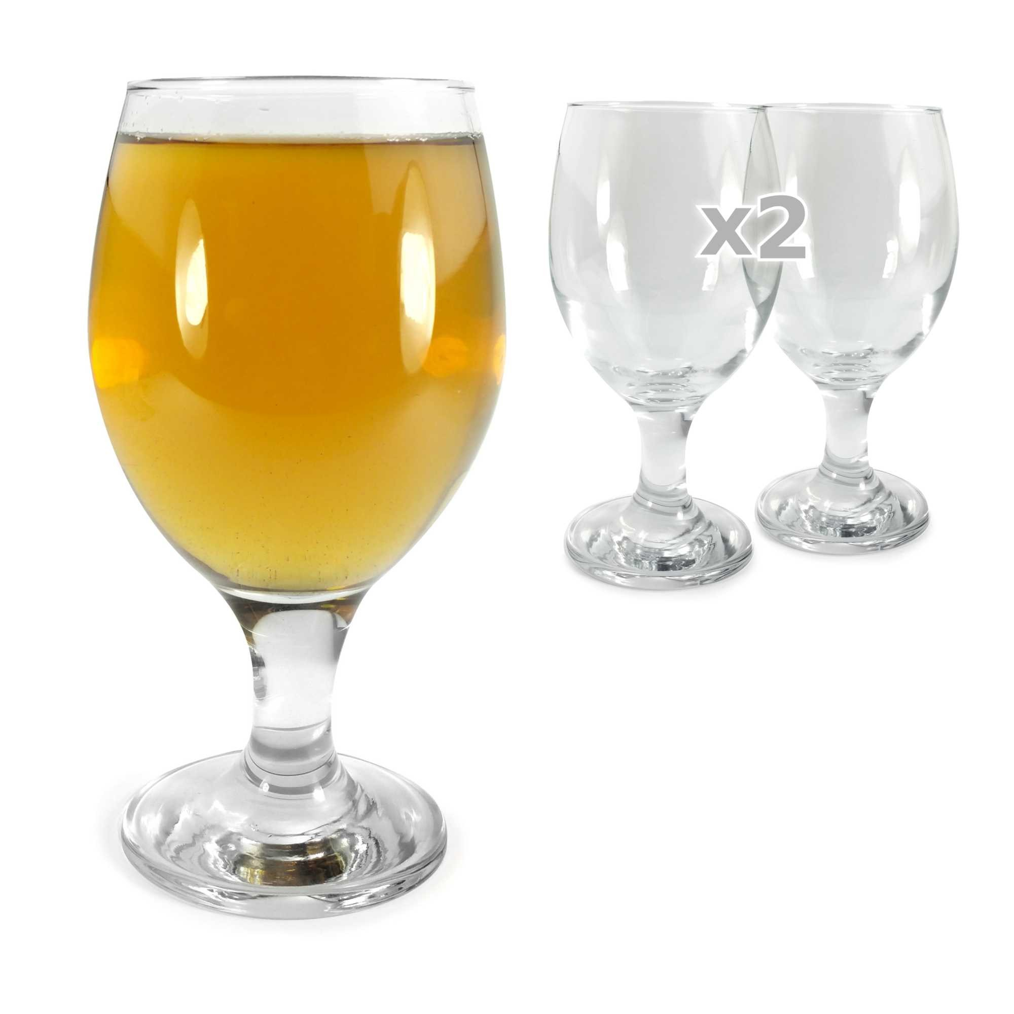 tuff luv set of 2 original beer glasses craft beer. Black Bedroom Furniture Sets. Home Design Ideas