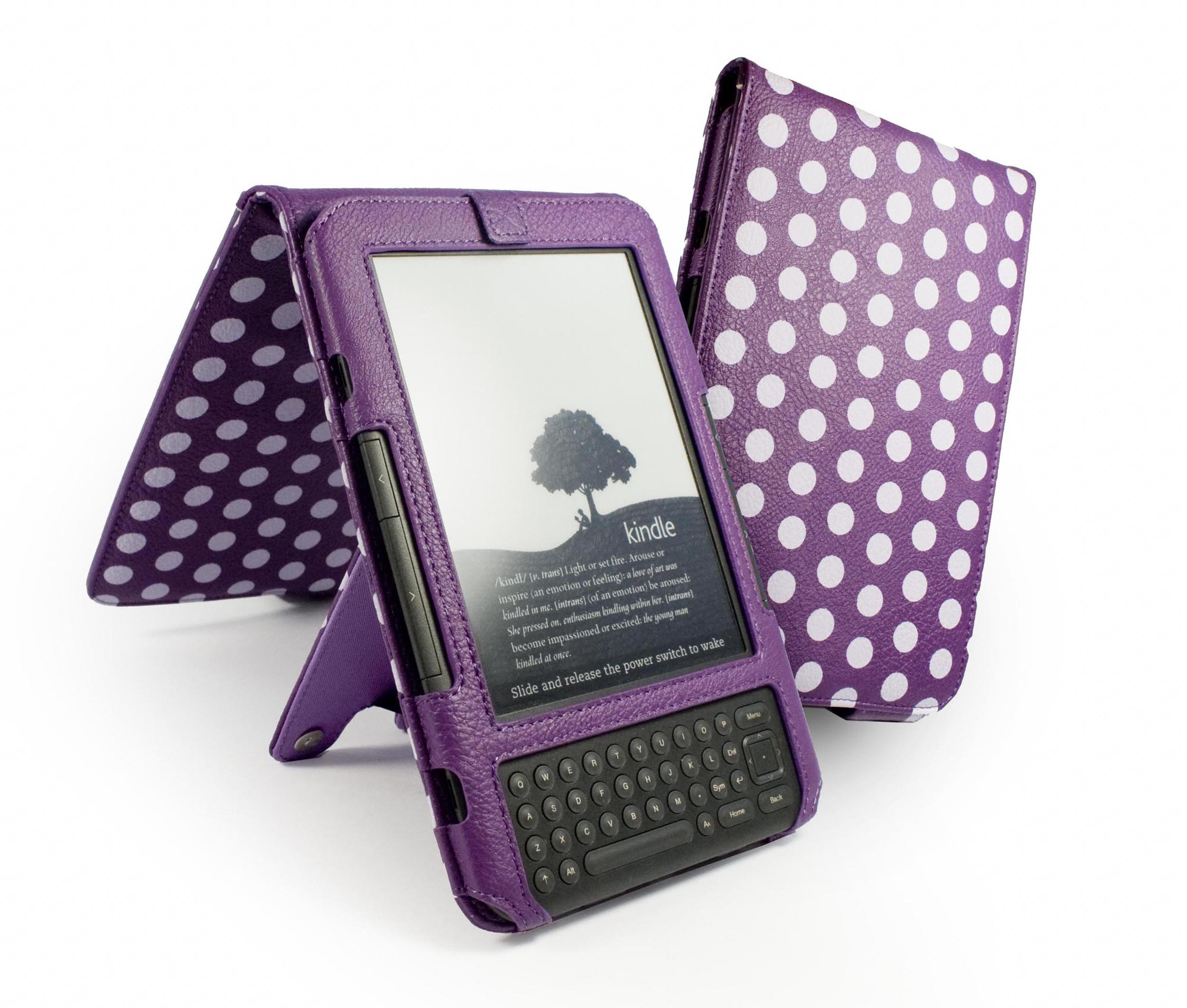 polkahot faux leather case cover amp stand for amazon kindle  - polkahot faux leather case cover  stand for amazon kindle keyboard kindle