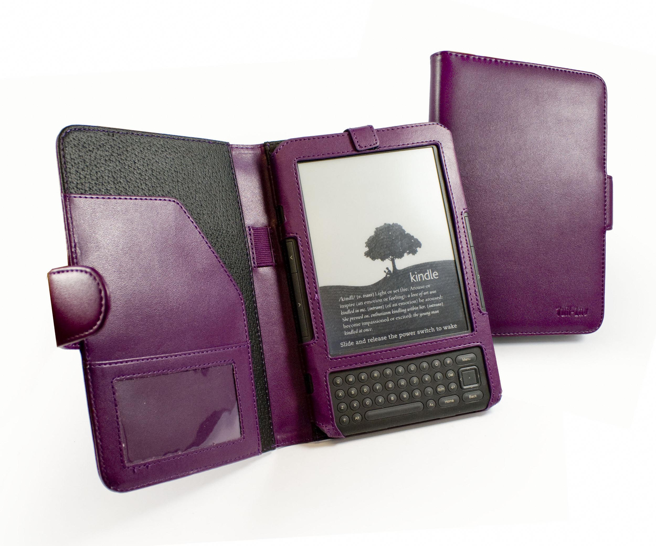 How To Make A Book Cover For Kindle ~ Tuff luv traditional leather case cover for amazon kindle