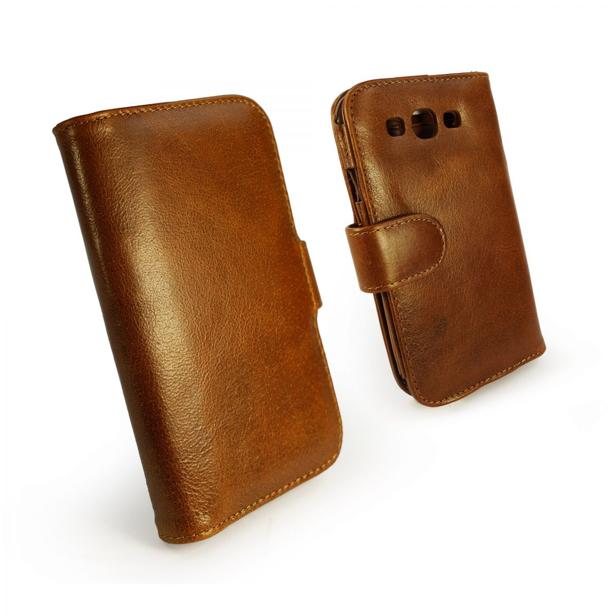 Tuff LUV Vintage Leather Wallet Case Cover FOR Samsung ...