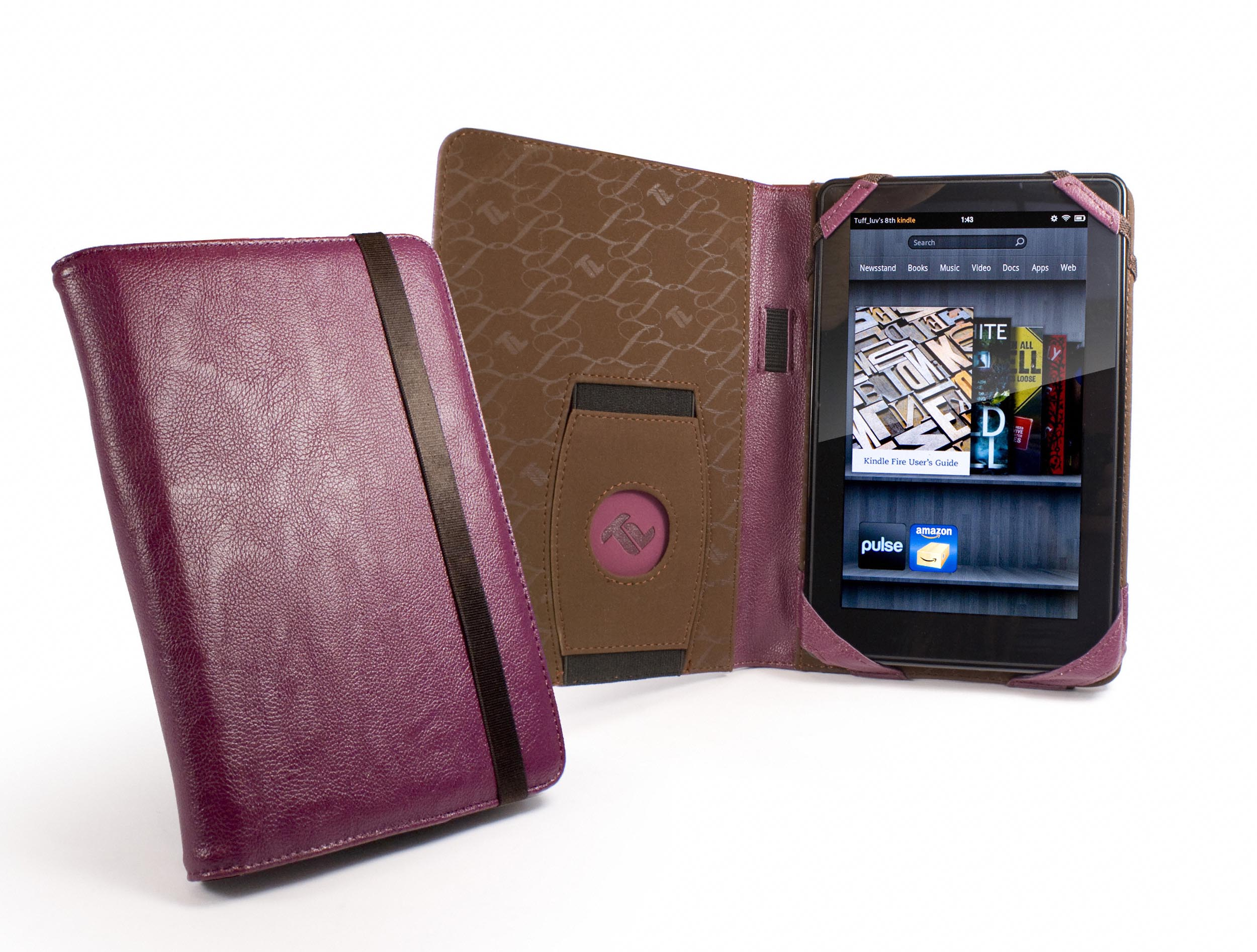 Tuff LUV Embrace Faux Leather Case Cover FOR Kindle Fire 7