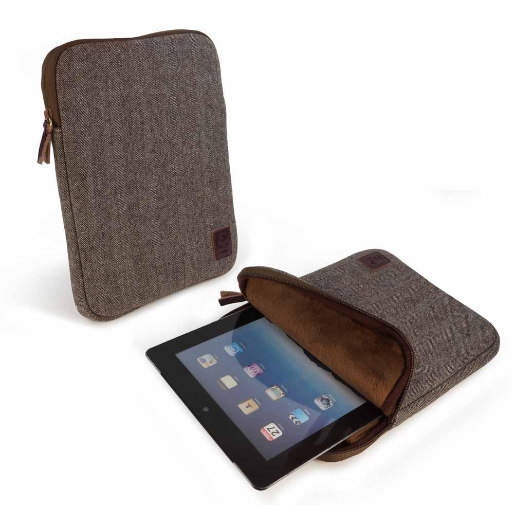 Tuff-Luv Herringbone Tweed sleeve case cover for ereader ...
