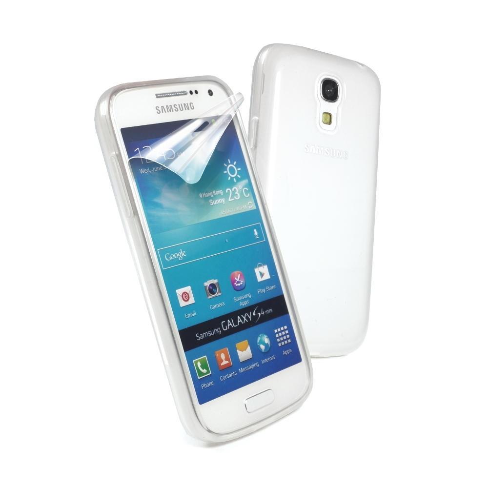 case cover for Samsung Galaxy S4 Mini  inc  screen protector  WhiteGalaxy S4 Mini White