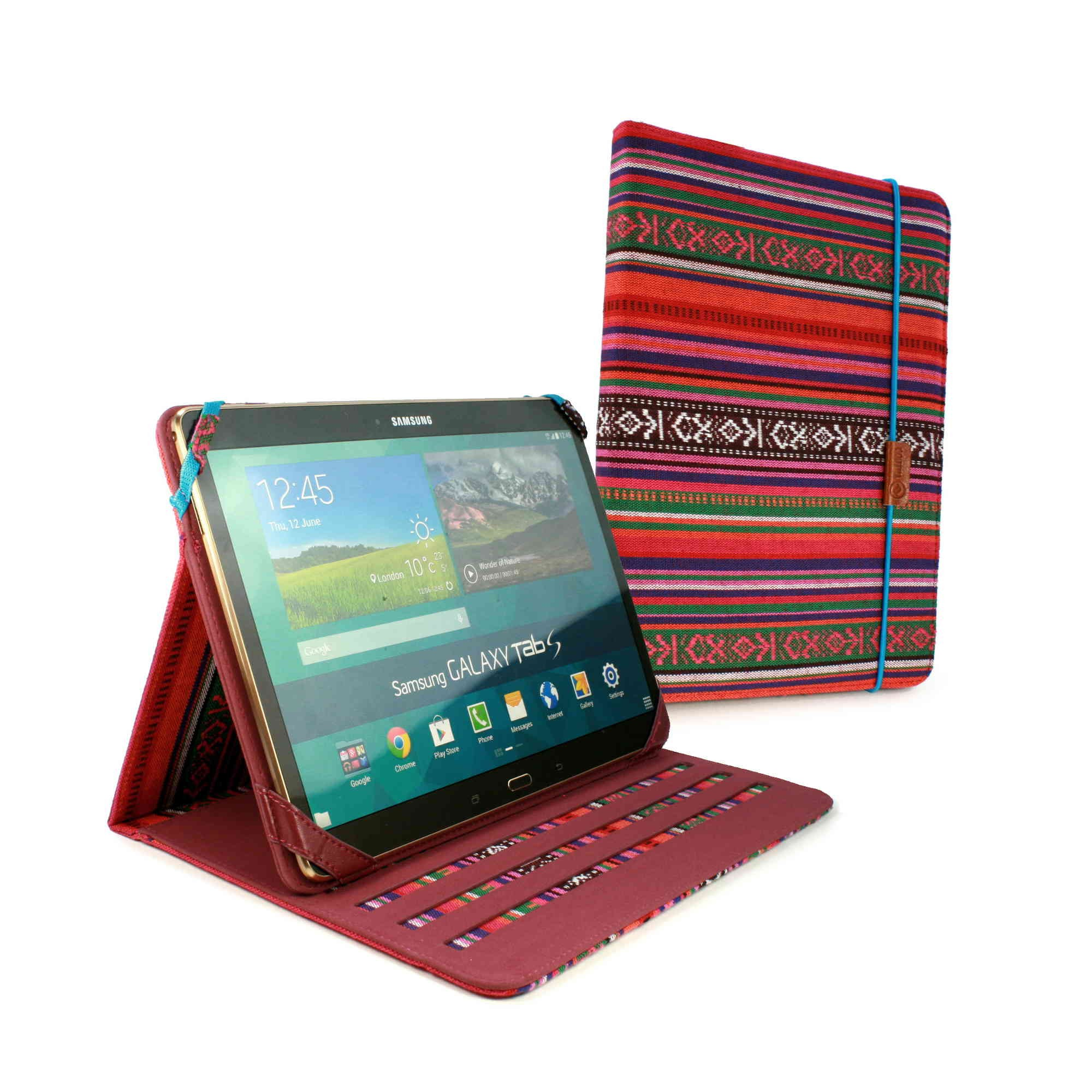 Tuff-Luv Slim-Stand Material Case Cover for Samsung Galaxy tab / ipad - Navajo