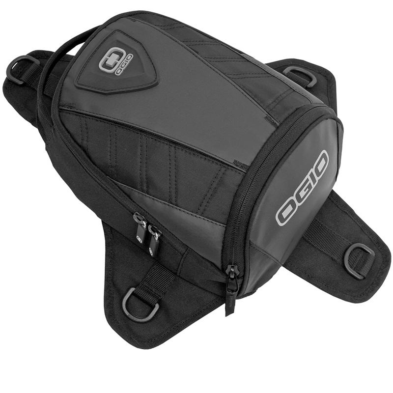 ogio super mini tanker stealth moto magn tique sacoche de r servoir 6l bagages ebay. Black Bedroom Furniture Sets. Home Design Ideas
