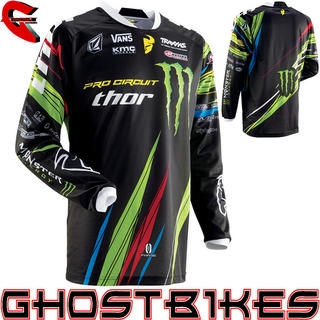 View Item Thor Phase SP13 Pro Circuit Monster Energy Motocross Jersey
