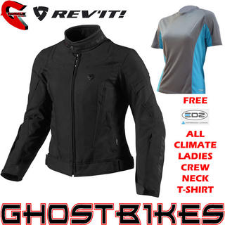 View Item Rev It Jupiter Ladies Jacket Black and FREE EDZ Top